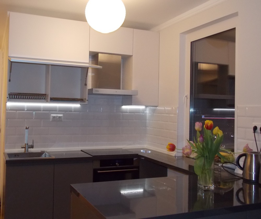 Акриловые кухни-Кухня МДФ в эмали «Модель 182»-фото6