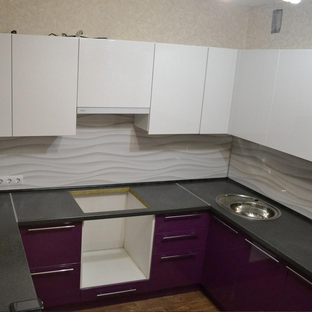 Встроенная кухня-Кухня МДФ в ПВХ «Модель 161»-фото1