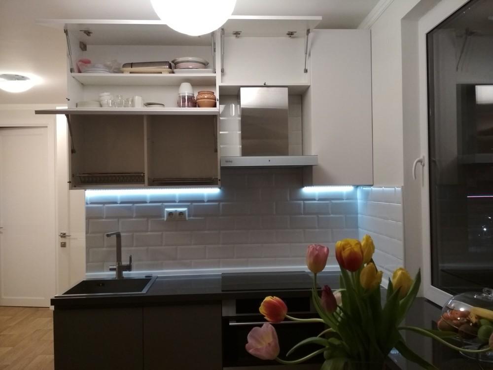 Акриловые кухни-Кухня МДФ в эмали «Модель 182»-фото7