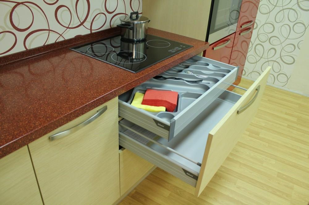 Акриловые кухни-Кухня из пластика «Модель 129»-фото8