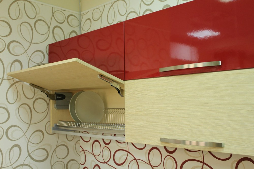 Акриловые кухни-Кухня из пластика «Модель 129»-фото13