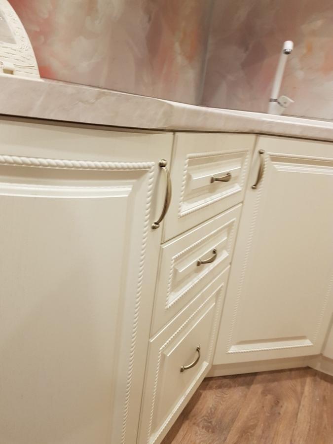 Белый кухонный гарнитур-Кухня МДФ в ПВХ «Модель 70»-фото5