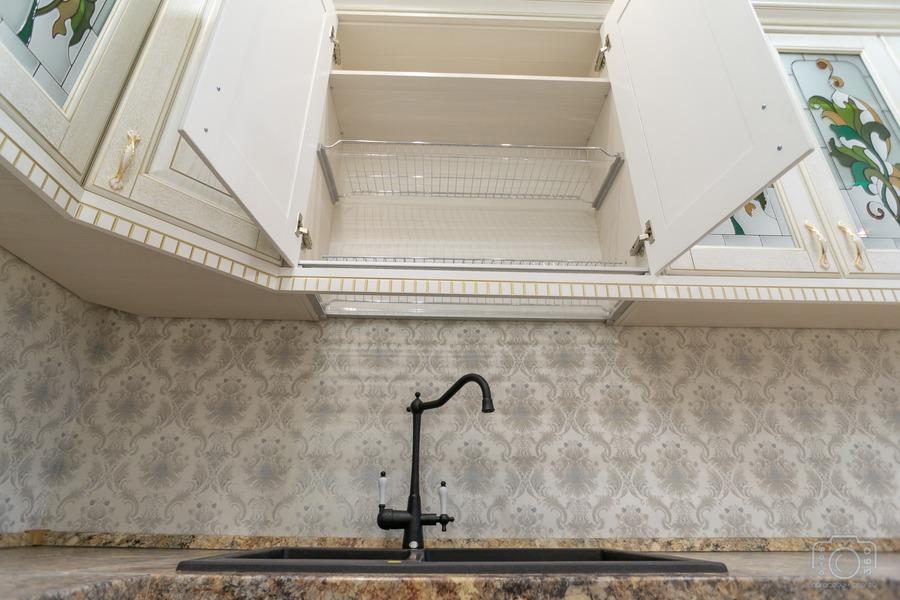 Белый кухонный гарнитур-Кухня из шпона «Модель 8»-фото8