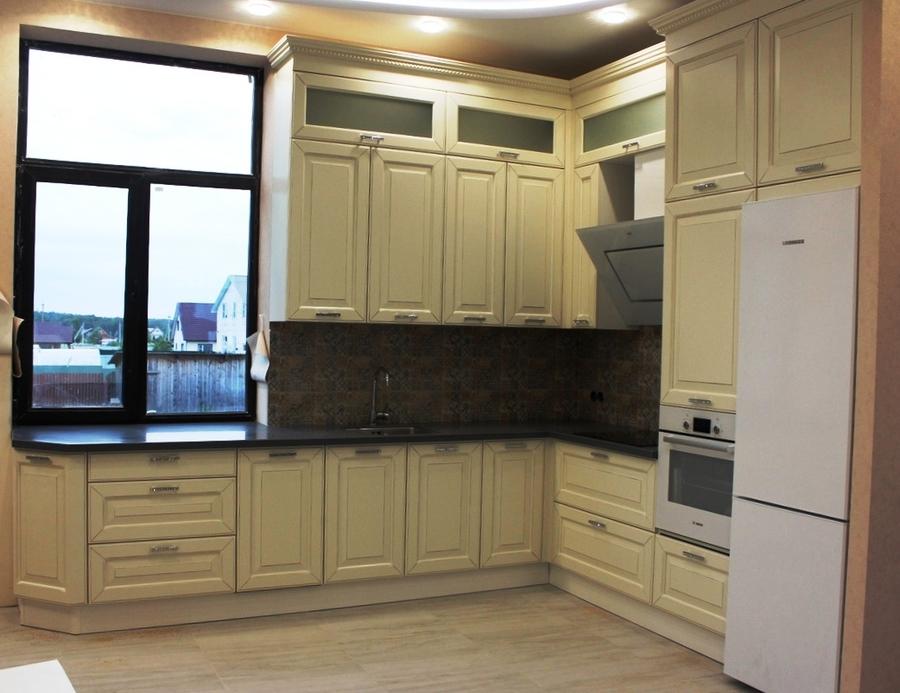 Белый кухонный гарнитур-Кухня из массива «Модель 41»-фото1