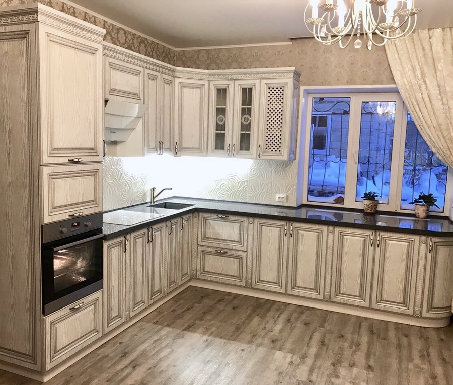 Встроенная кухня-Кухня МДФ в ПВХ «Модель 58»-фото1