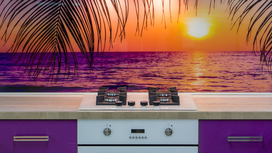 Белый кухонный гарнитур-Кухня МДФ в ПВХ «Модель 45»-фото4