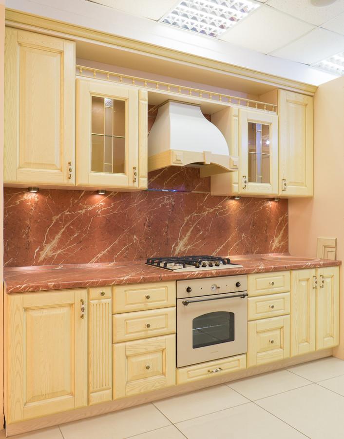 Белый кухонный гарнитур-Кухня из массива «Модель 57»-фото3