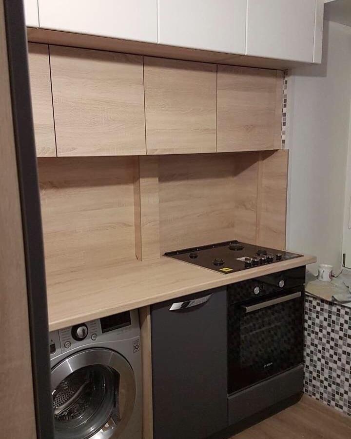 Встроенная кухня-Кухня МДФ в ПВХ «Модель 61»-фото3
