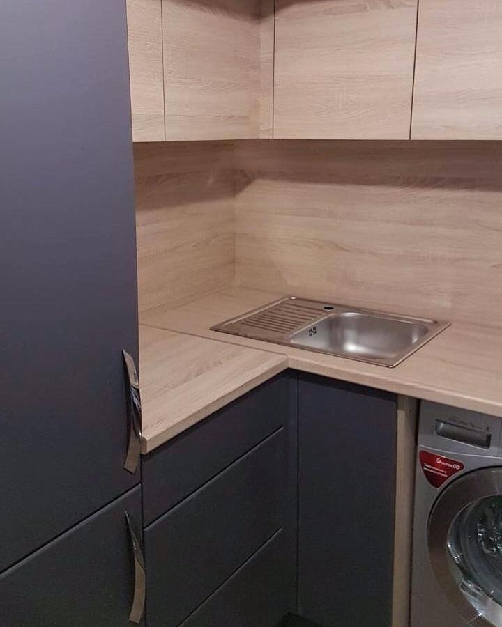 Встроенная кухня-Кухня МДФ в ПВХ «Модель 61»-фото2