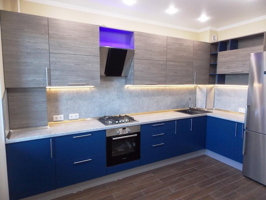 Встроенная кухня-Кухня МДФ в эмали «Модель 15»-фото1