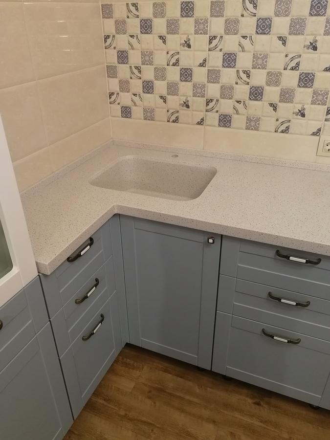 Классические кухни-Кухня МДФ в ПВХ «Модель 28»-фото5
