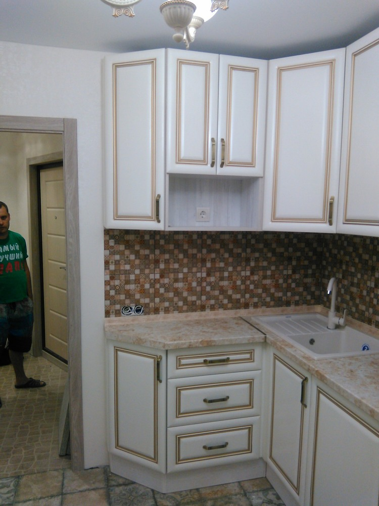 Белый кухонный гарнитур-Кухня МДФ в ПВХ «Модель 340»-фото15