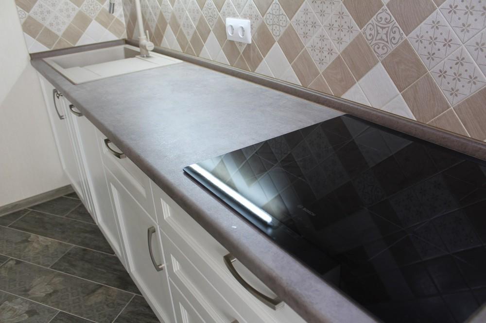 Белый кухонный гарнитур-Кухня МДФ в ПВХ «Модель 294»-фото7