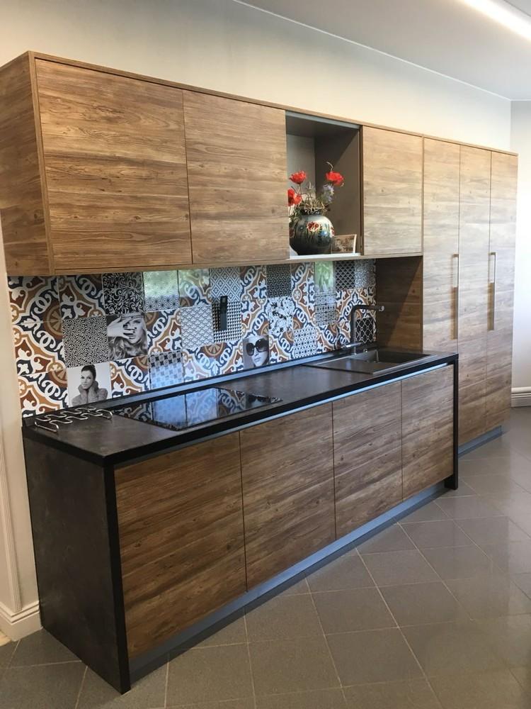 Акриловые кухни-Кухня из пластика «Модель 347»-фото1