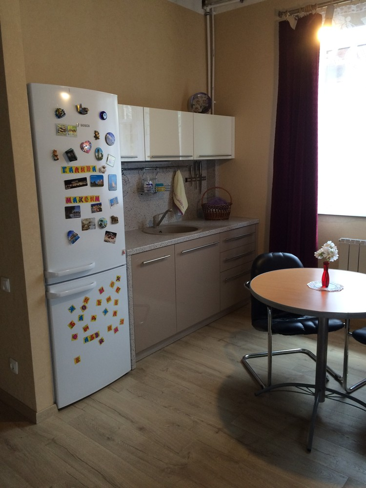 Акриловые кухни-Кухня из пластика «Модель 104»-фото2