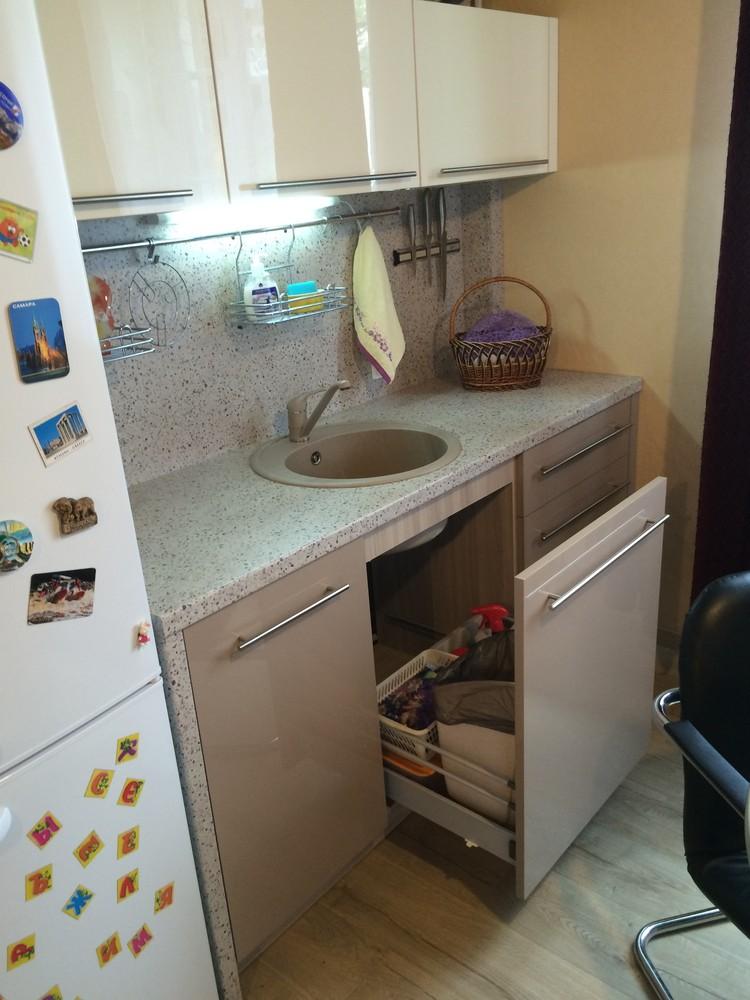 Акриловые кухни-Кухня из пластика «Модель 104»-фото6