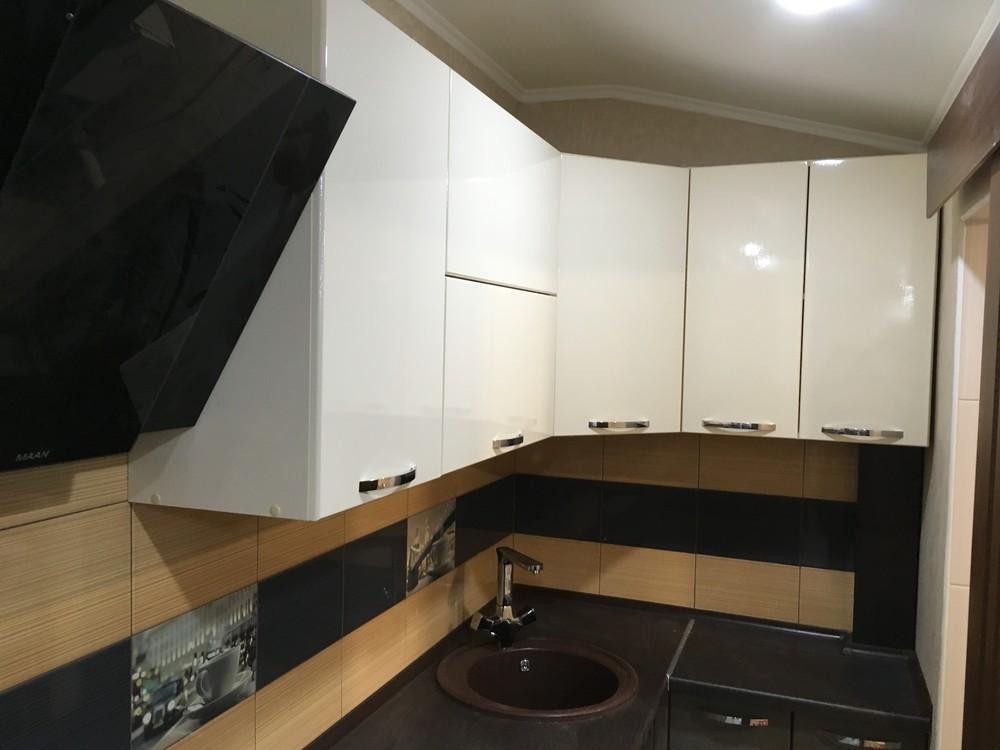 Белый кухонный гарнитур-Кухня МДФ в ПВХ «Модель 314»-фото2