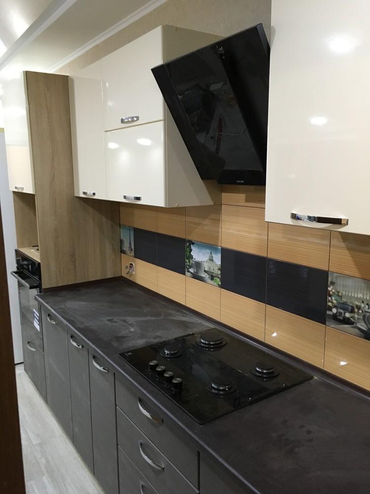 Белый кухонный гарнитур-Кухня МДФ в ПВХ «Модель 314»-фото4