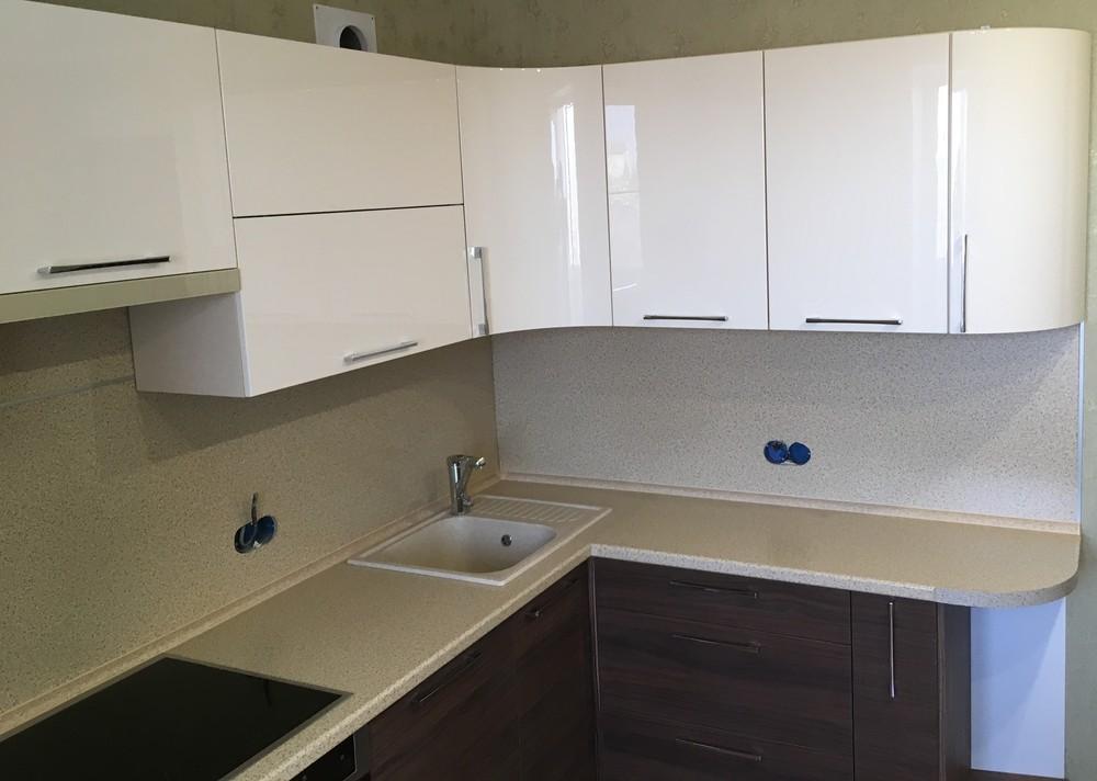 Встроенная кухня-Кухня МДФ в шпоне «Модель 317»-фото2
