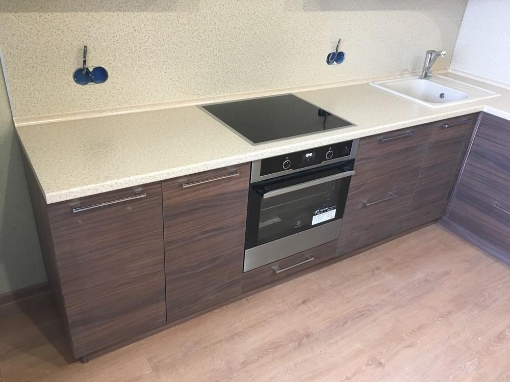 Встроенная кухня-Кухня МДФ в шпоне «Модель 317»-фото3