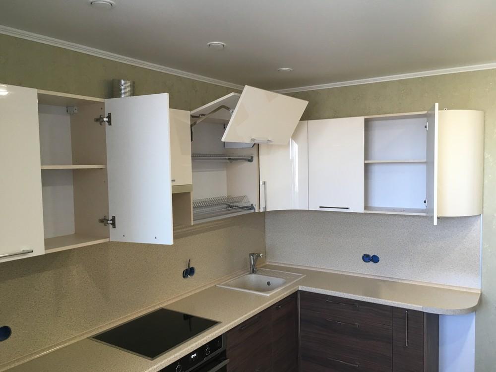 Встроенная кухня-Кухня МДФ в шпоне «Модель 317»-фото6