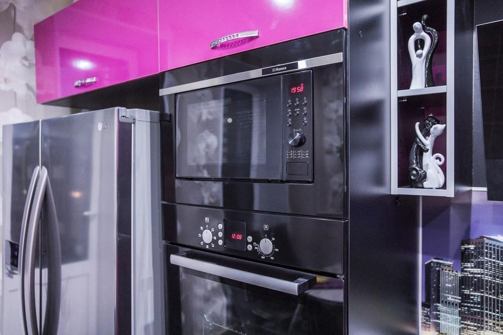 Акриловые кухни-Кухня МДФ в эмали «Модель 115»-фото5