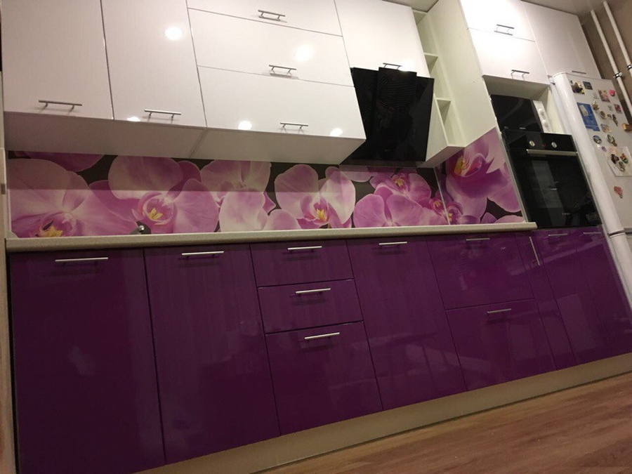 Белый кухонный гарнитур-Кухня из пластика «Модель 267»-фото4