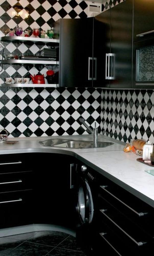 Встроенная кухня-Кухня МДФ в ПВХ «Модель 372»-фото2