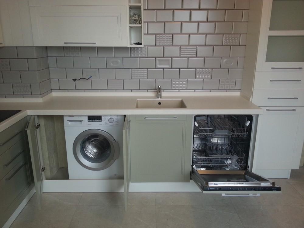 Бежевые кухни-Кухня МДФ в эмали «Модель 277»-фото2