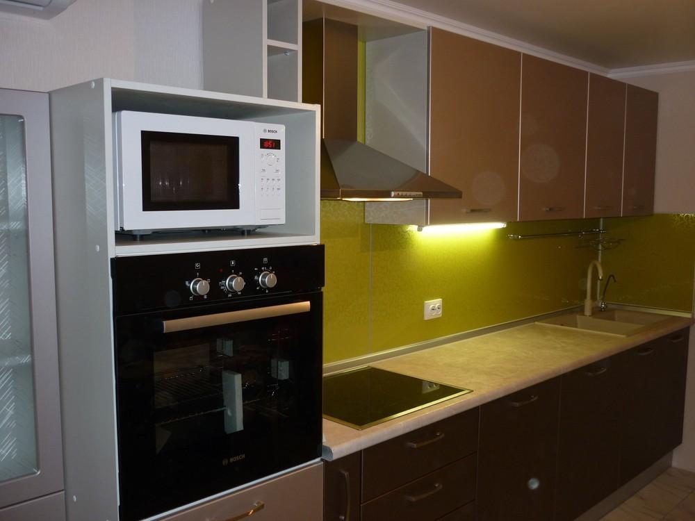 Встроенная кухня-Кухня МДФ в ПВХ «Модель 263»-фото1