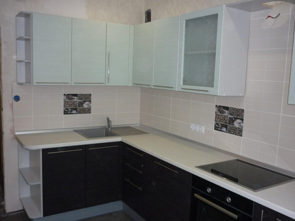 Встроенная кухня-Кухня МДФ в ПВХ «Модель 254»-фото1