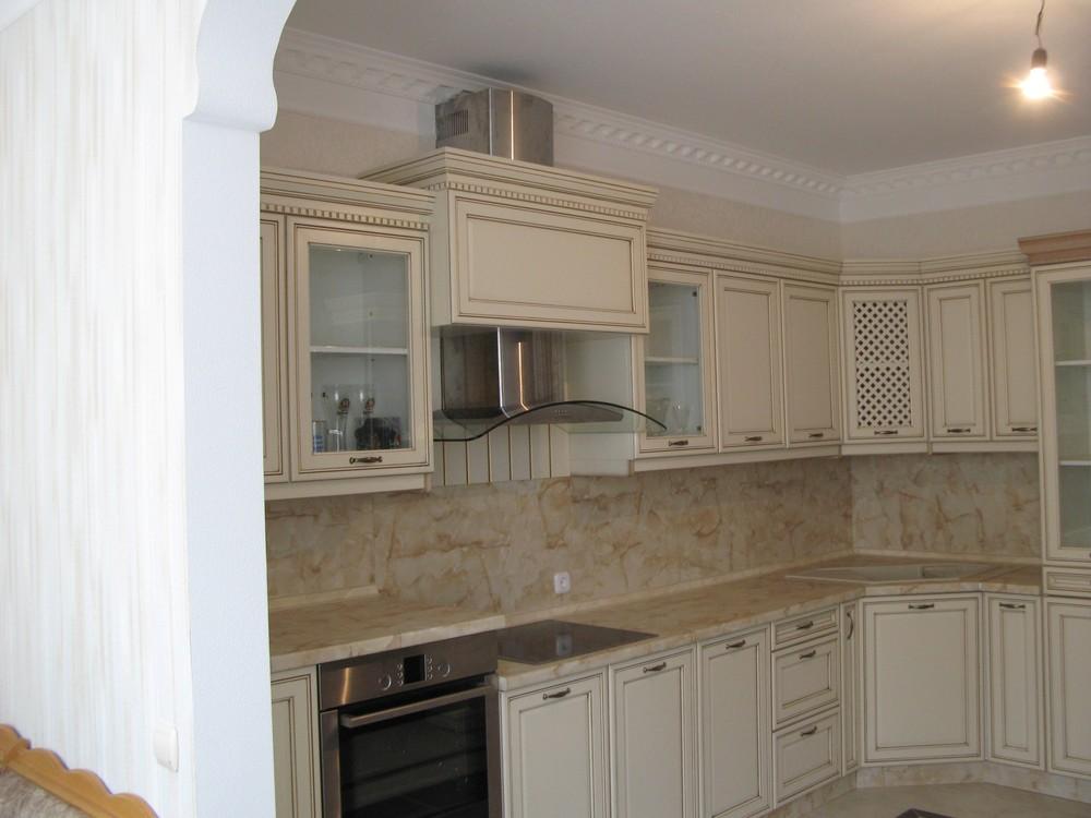 Белый кухонный гарнитур-Кухня из массива «Модель 244»-фото3