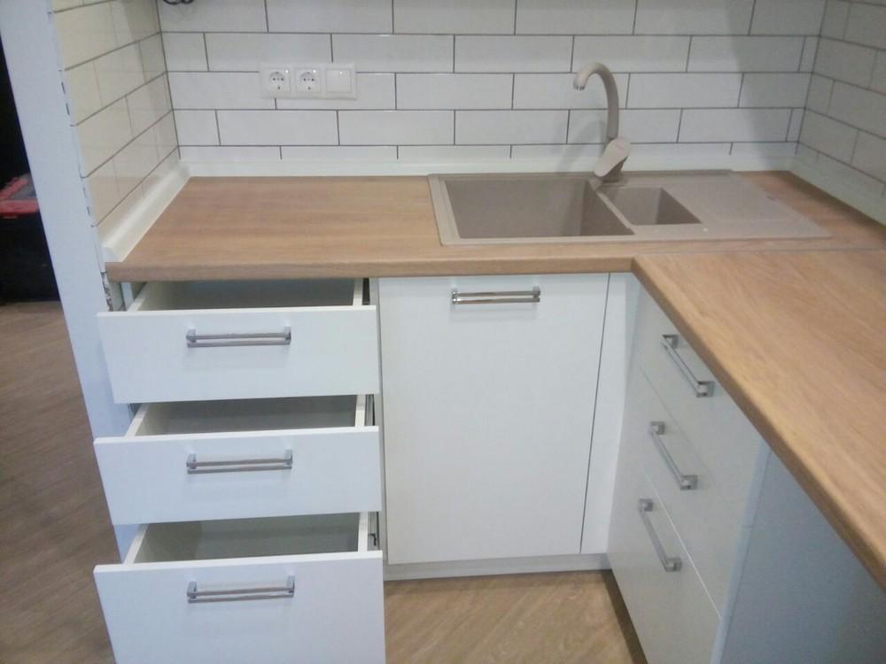Акриловые кухни-Кухня из пластика «Модель 225»-фото5
