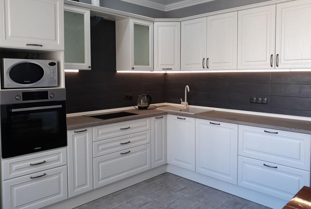 Встроенная кухня-Кухня МДФ в ПВХ «Модель 278»-фото1