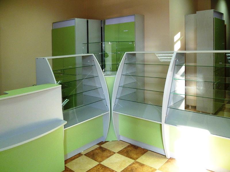 Торговая мебель-Мебель для аптеки «Модель 185»-фото2
