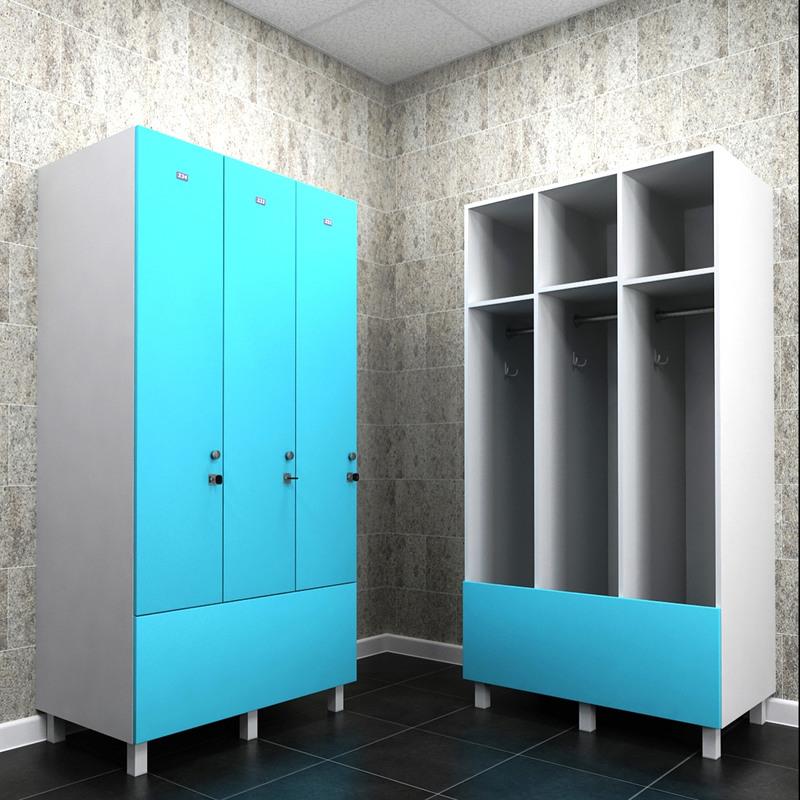 Торговая мебель-Шкафчики для раздевалки «Модель 165»-фото1