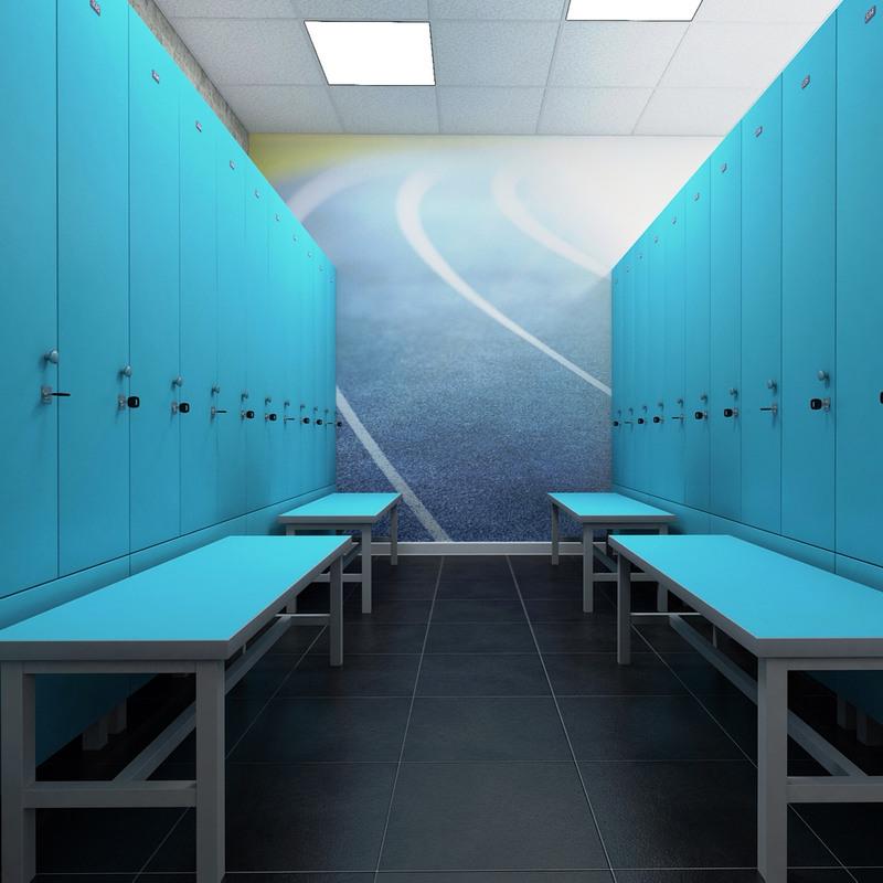 Торговая мебель-Шкафчики для раздевалки «Модель 165»-фото2