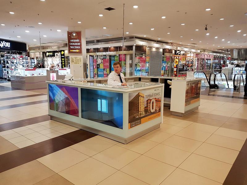 Торговая мебель-Торговый островок «Модель 257»-фото1