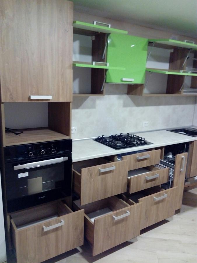 Встроенная кухня-Кухня из пластика «Модель 355»-фото4