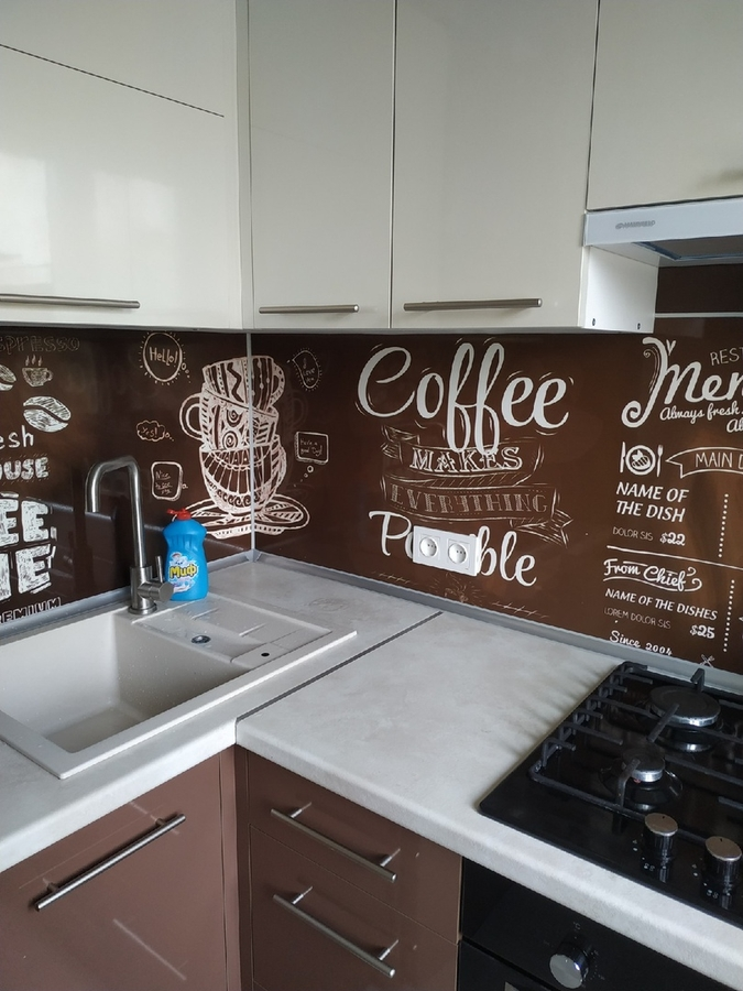 Белый кухонный гарнитур-Кухня из пластика «Модель 353»-фото3
