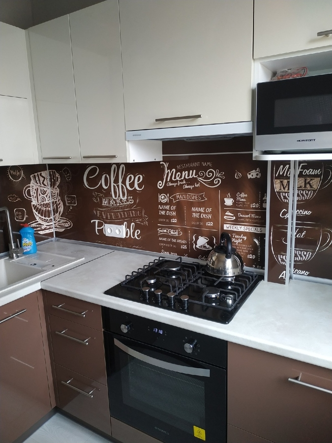 Белый кухонный гарнитур-Кухня из пластика «Модель 353»-фото2