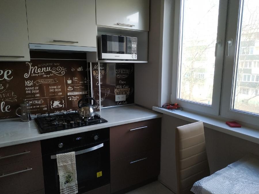 Белый кухонный гарнитур-Кухня из пластика «Модель 353»-фото1
