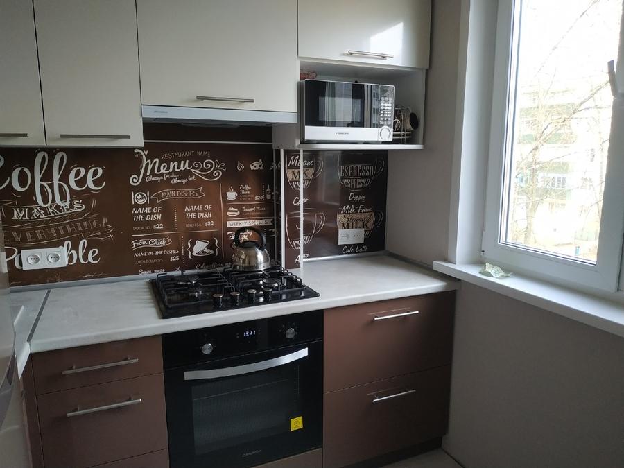 Белый кухонный гарнитур-Кухня из пластика «Модель 353»-фото5