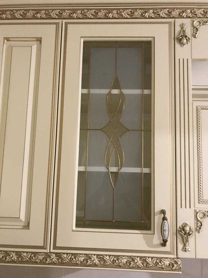 Белый кухонный гарнитур-Кухня МДФ в эмали «Модель 487»-фото7