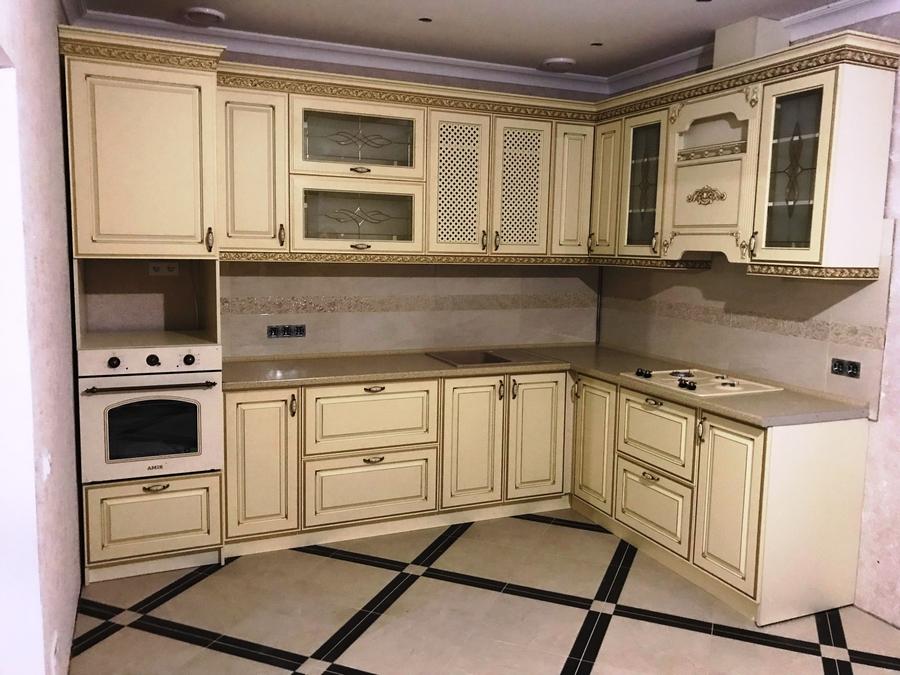 Белый кухонный гарнитур-Кухня МДФ в эмали «Модель 487»-фото1