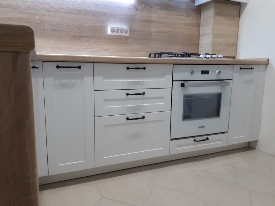 Белый кухонный гарнитур-Кухня МДФ в ПВХ «Модель 500»-фото2