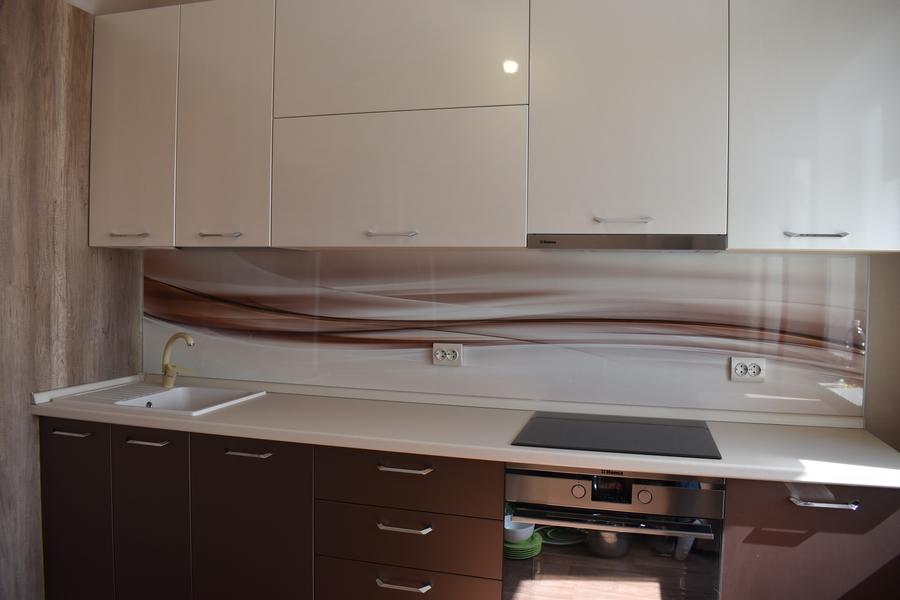 Белый кухонный гарнитур-Кухня МДФ в ПВХ «Модель 504»-фото2