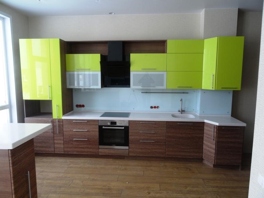 Встроенная кухня-Кухня МДФ в ПВХ «Модель 512»-фото1