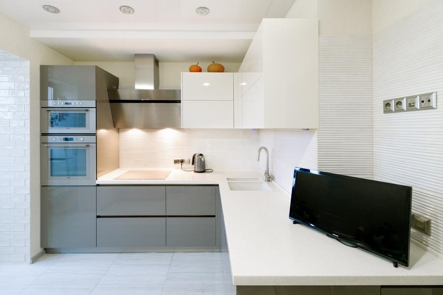 Акриловые кухни-Кухня из акрила «Модель 411»-фото2