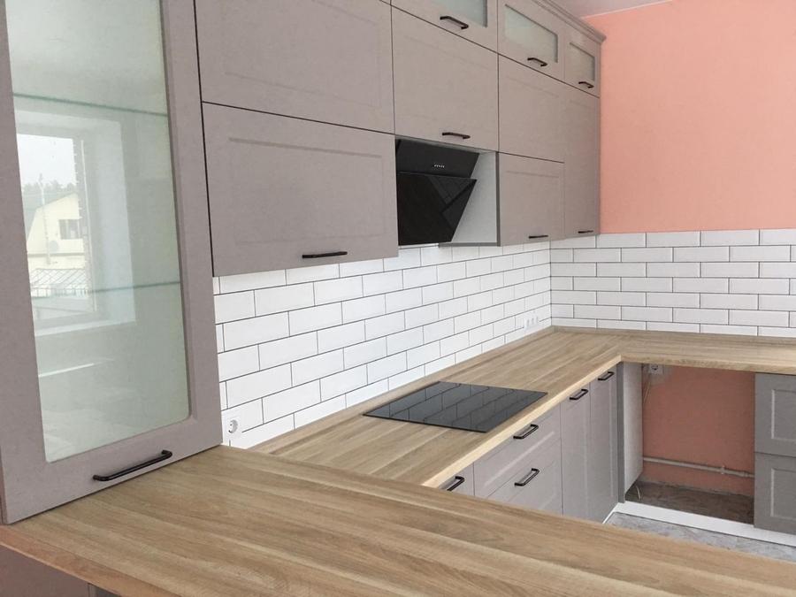 Классические кухни-Кухня МДФ в ПВХ «Модель 441»-фото3